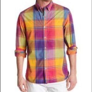 NWT Bonobos Standard Fit Grand Plaid Saffron Shirt